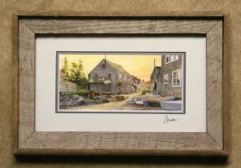 Barnwood Frame with Buildings