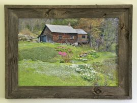 Barnwood Frame with Cabin