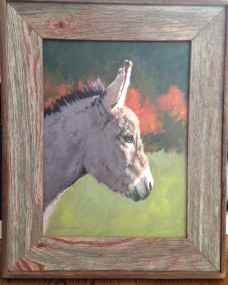 Barnwood Frame with Donkey
