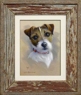 Barnwood Frame with Jack Russell