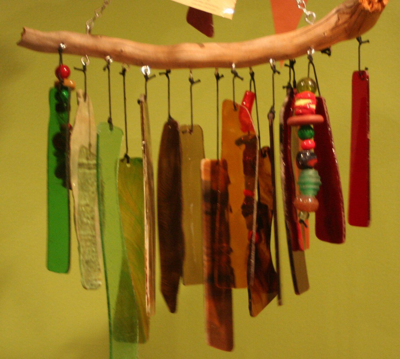Red Green Brown Wind Chimes