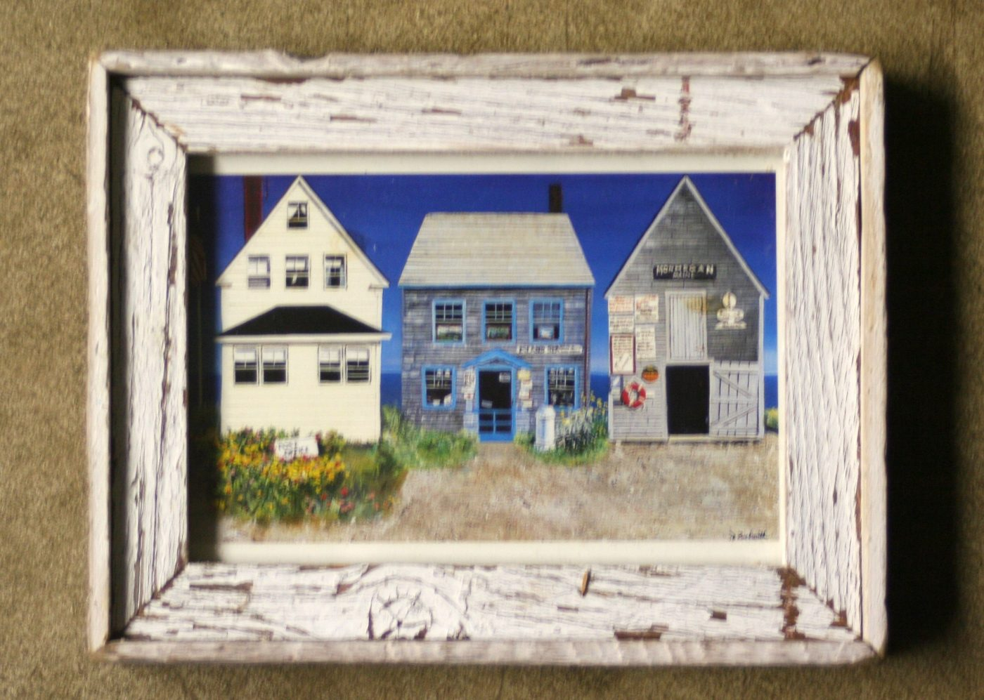 Barnwood Frame with Houses