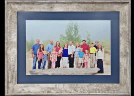 Barnwood Frame with Family Potrait
