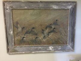 Barnwood Frame with Ducks